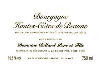 Domaine Billard Rouge 375ml - organic