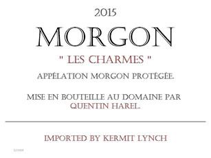 Quentin Harel, Morgon Les Charmes  - organic