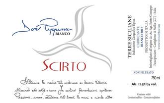 Vini Scirto, Terre Siciliane Don Pippinu Carricante Bianco - organic