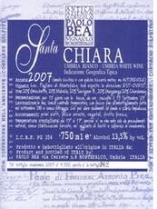 Paolo Bea Santa Chiara Umbria Bianco - organic