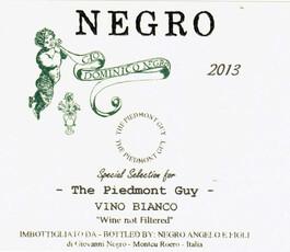Negro Angelo Roero Arneis The Piedmont Guy Unfiltered - organic