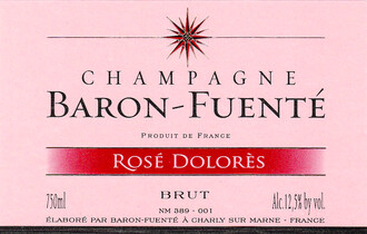 NV Baron Fuente Rose Dolores Brut Champagne - sustainable