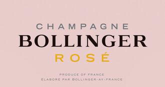375ml Bollinger Rose Champagne - Half Bottle