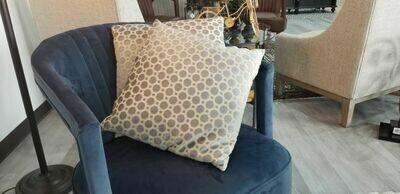 Silvery Blue Dot Pillow
