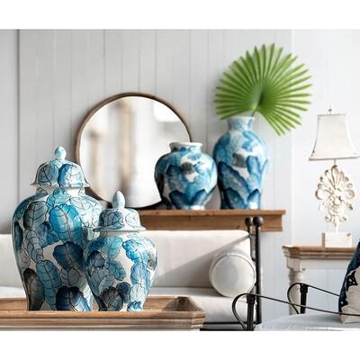 Floral Porcelain Jar Large