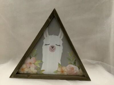 LLama Triangle Table Sign