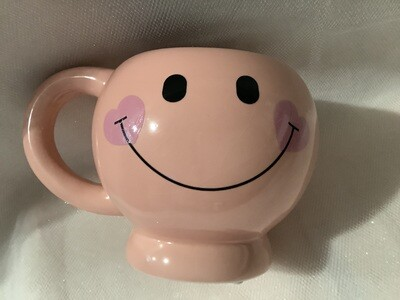 Smiley Face Mug - Pink