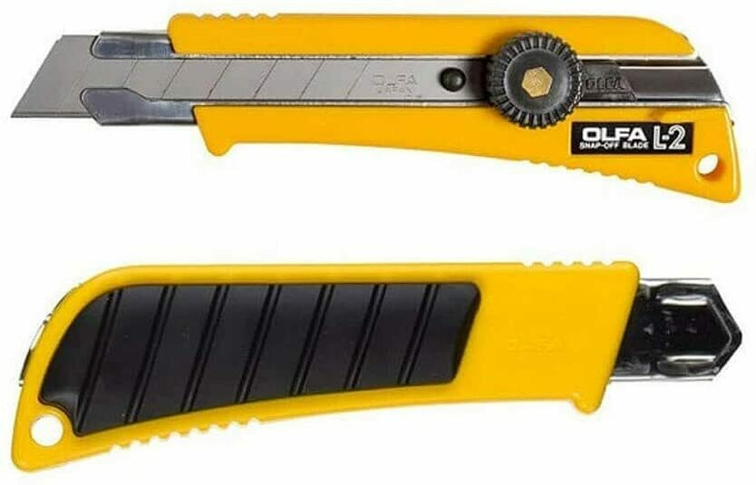 Olfa 18mm L2 Heavy Duty Utility Knife with Rubber Grip Inset