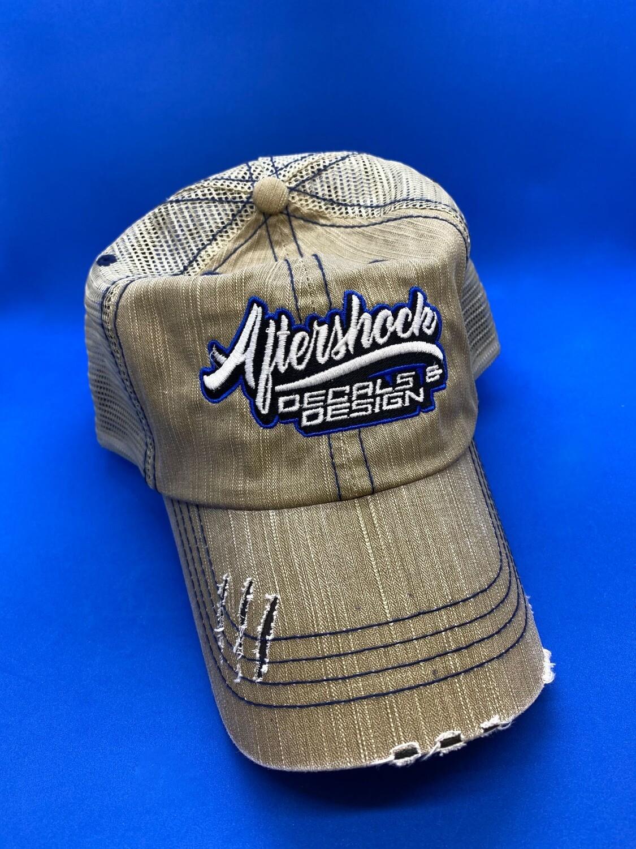 Aftershock Hat Blue Logo