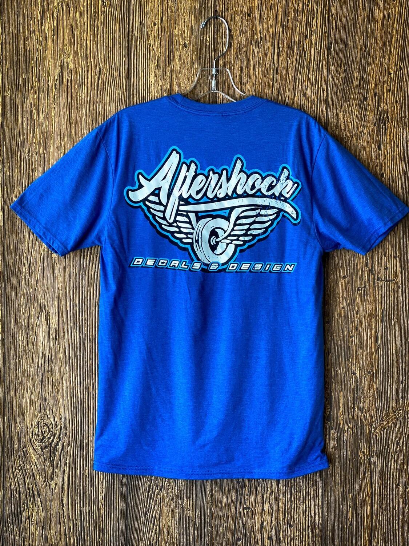 Aftershock logo T- Shirt  (Blue)