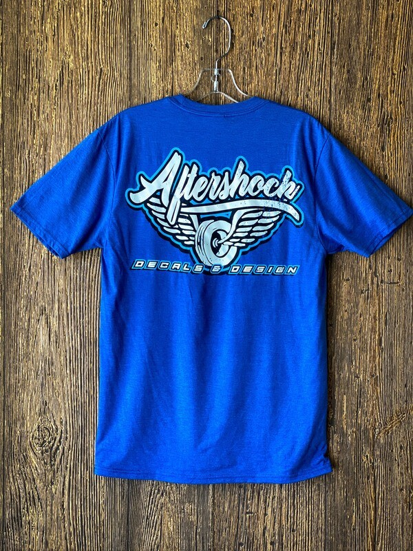 Aftershock logo T- Shirt  (Blue)