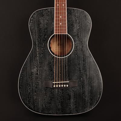 Cort AF590MF BOP Acoustic/Electric Guitar - Black Open Pore