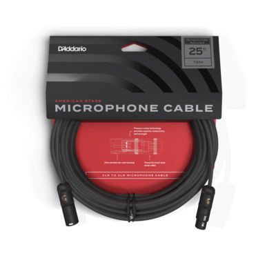 D'Addario Microphone Cable - American Stage 25