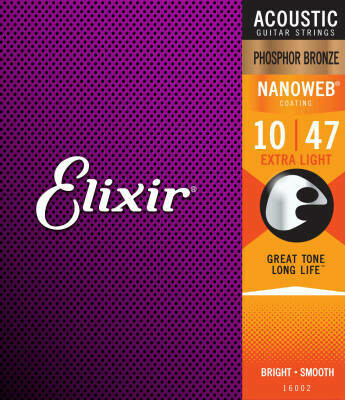 NANOWEB 10-47 Extra Light Acoustic Strings