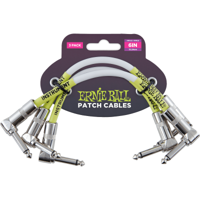 Ernie Ball - Patch Cables 6in (3) pack