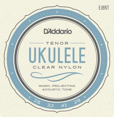 D'Addario Tenor Ukulele Strings - Clear Nylon - EJ65T