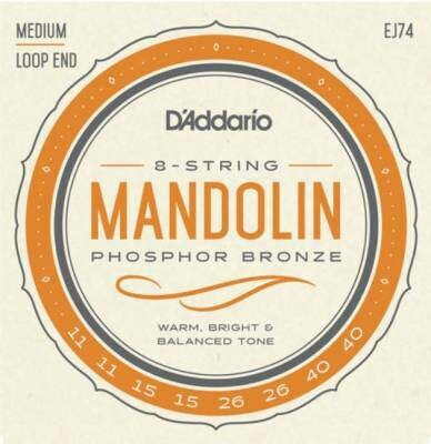 D'Addario Mandolin Strings - Phosphor Bronze - EJ74