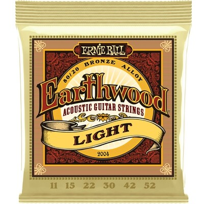 Ernie Ball - Earthwood Bronze Alloy Acoustic Guitar Strings - Light - 11-52