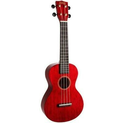 MAHALO Concert Ukulele - MH2-TWR - Trans Red