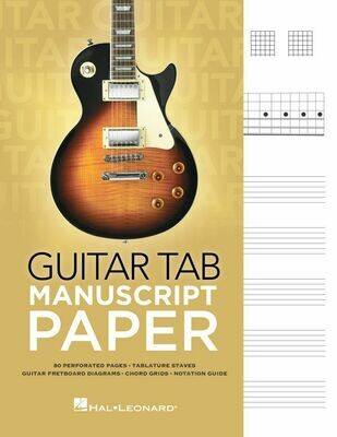 Hal Leonard Guitar Tab Manuscript Paper - 80 page