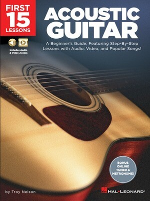 First 15 Lessons Acoustic Guitar - HL 00244588