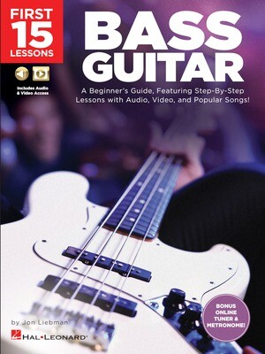 First 15 Lessons - Bass Guitar - HL 00244590
