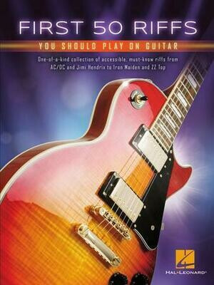 First 50 Riffs You Should Play on Your Guitar - HL 00277366