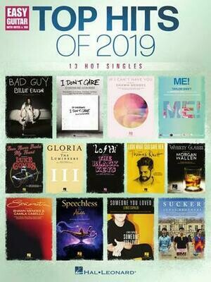 Top Hits for 2019 - Easy Guitar - HL 00302269