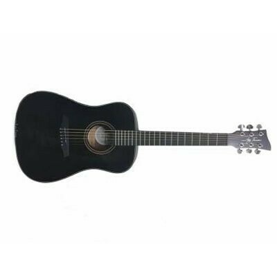 Jay Turser 3/4 Size Dreadnought Guitar - Black - JTA53-SBK