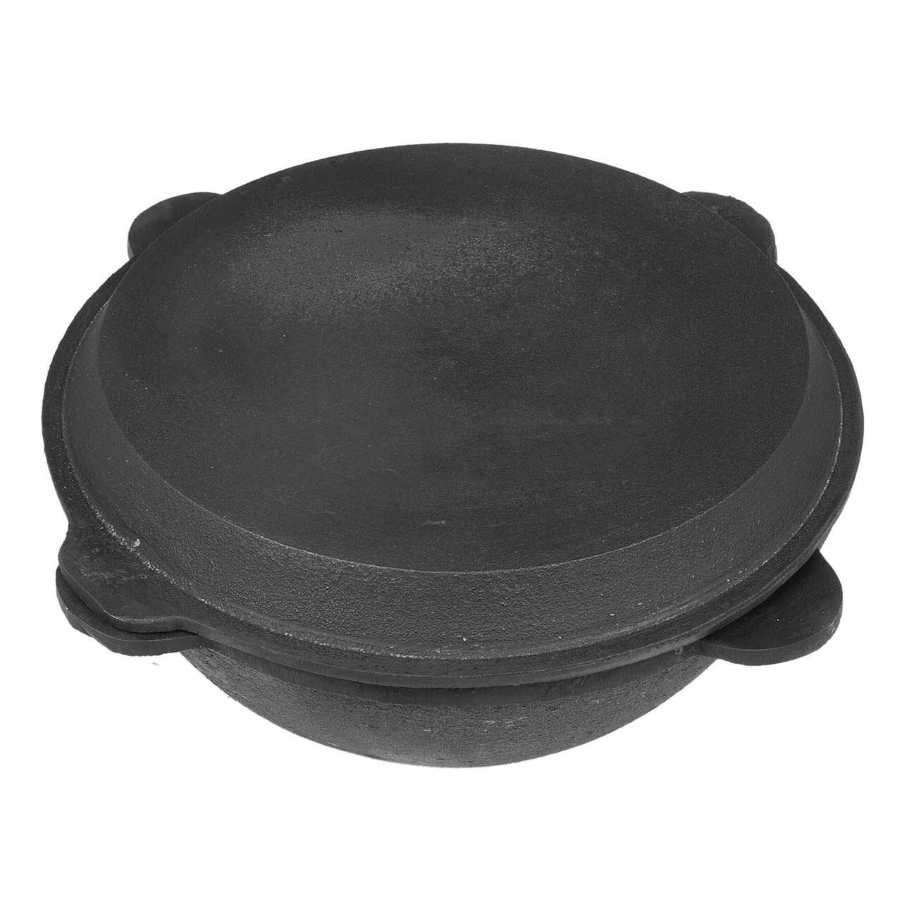 Чугунный Казан 10 л. с крышкой-сковородой