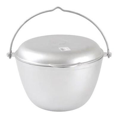 Алюминиевый котел походный 5л. без покрытия, крышка сковорода