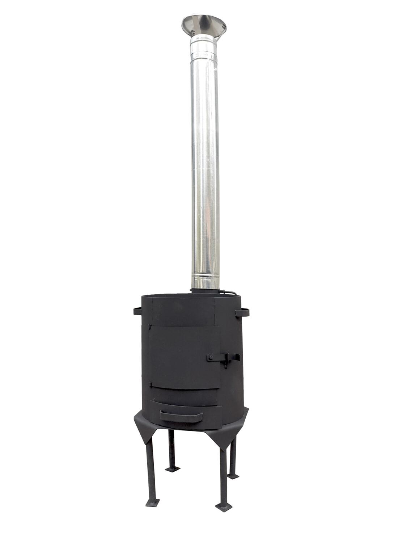 Печь с трубой и зольником 400*3 мм