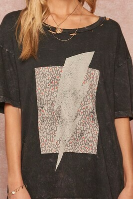 Bolt Distressed Graphic Tee