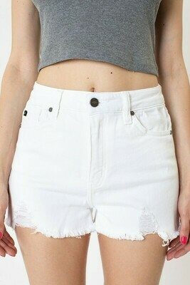 Kancan Denim Shorts in White