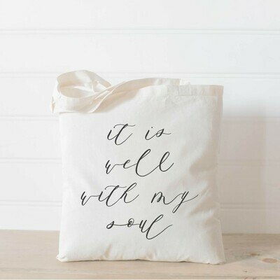 It Is Well With My Soul Tote