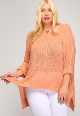 Cantaloupe Sweater One Size