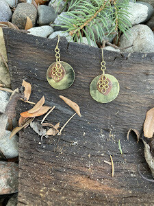 Round Shield Earrings