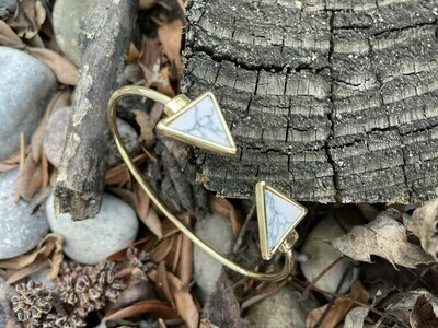 Marble Geo Drop Bracelet