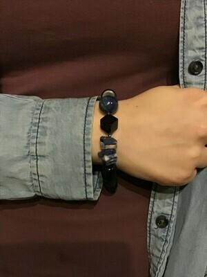 Lapis & Blue Agate Bracelet
