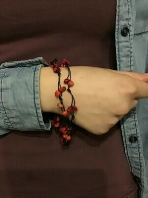 Coral Rope Bracelet