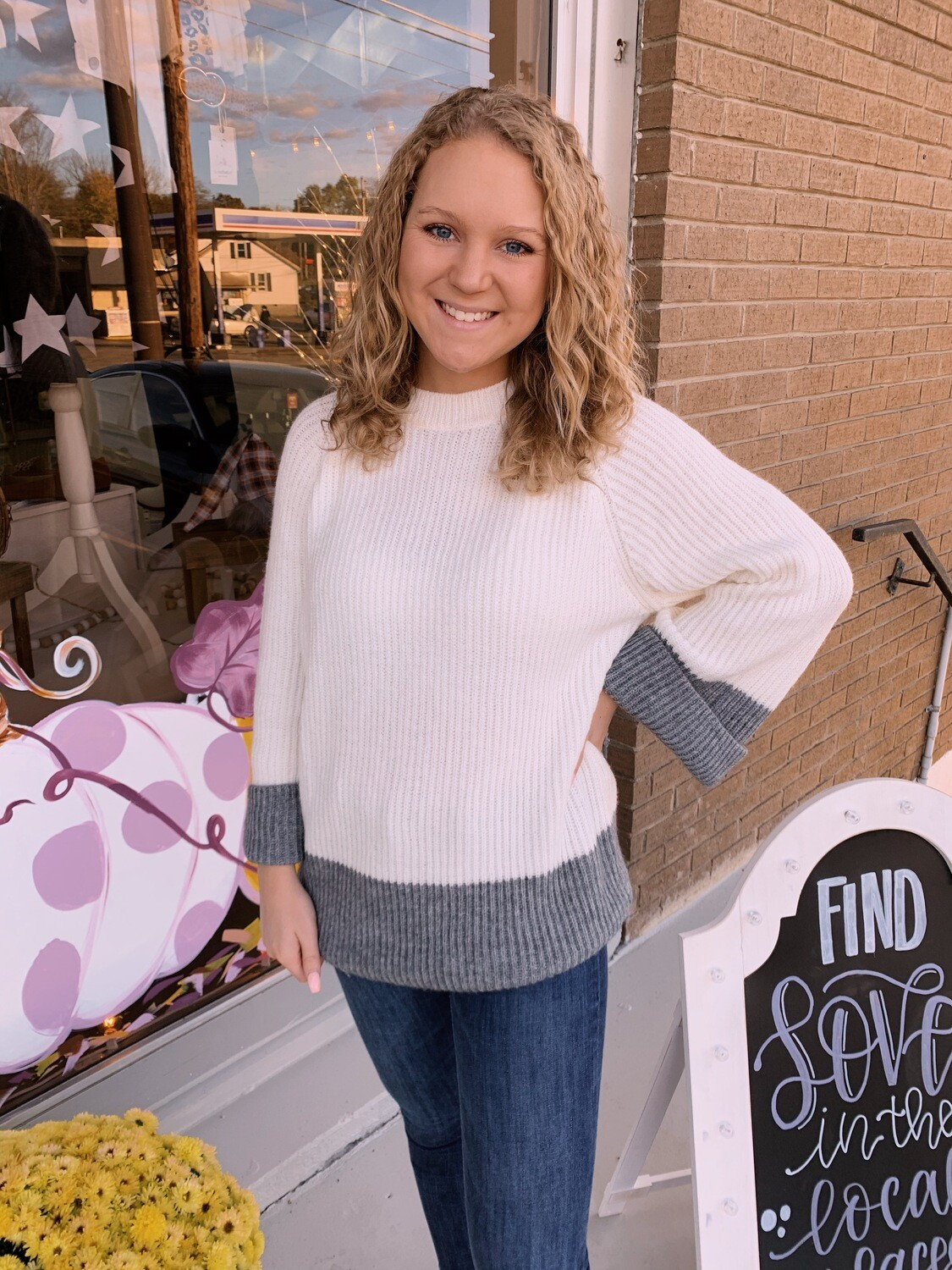 Wh Sweater Grey Bell