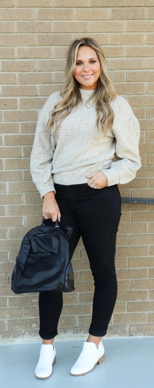 Sweater W/ Key Holes