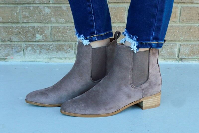 Dark Taupe Booties