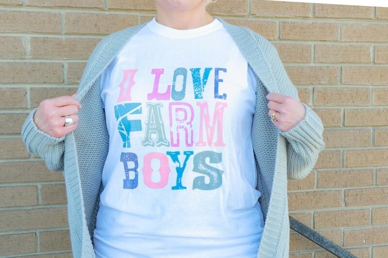 I Love Farm Boys Tee