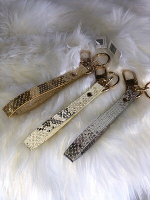 Snakeskin Leather Keychain