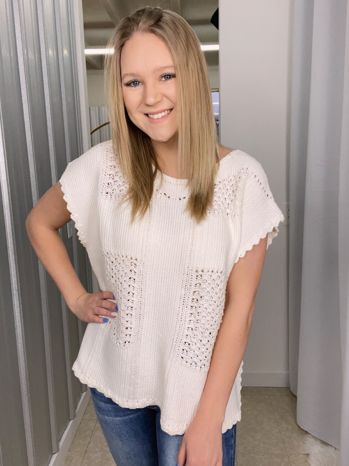 Ivory Knitted Top