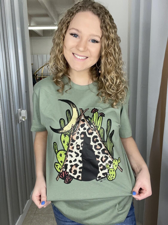 Cheetah Teepee Tee