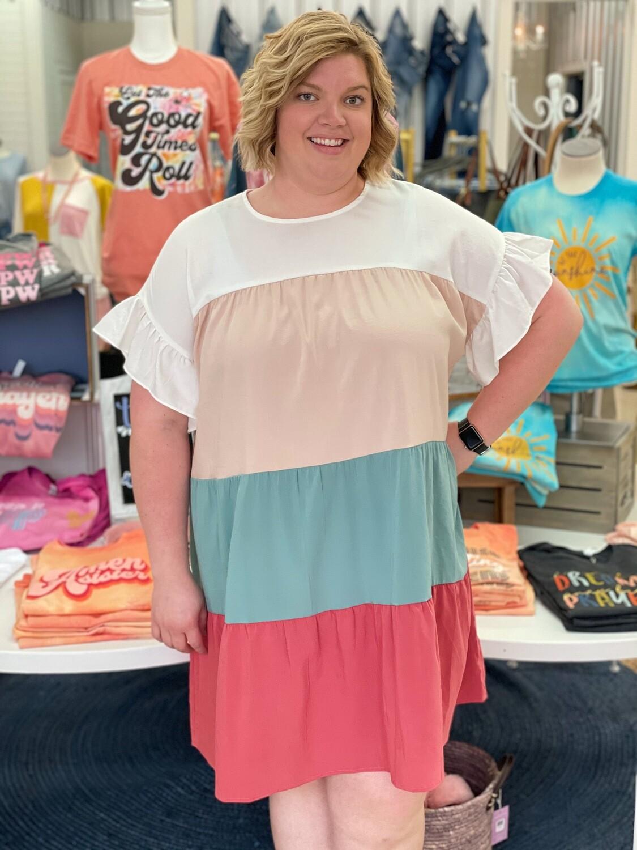 Color Block Dress Plus