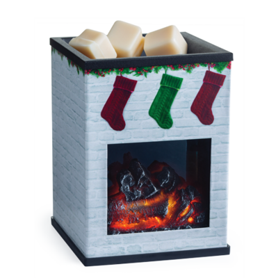 Candle Warmer - Holiday Fireplace
