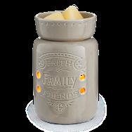 Candle Warmer, Midsize - Faith, Family,  Friends